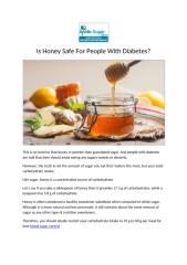 Is Honey Safe For People With Diabetes.pdf