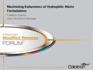 VAURES_Maximising matrix robustness.pdf