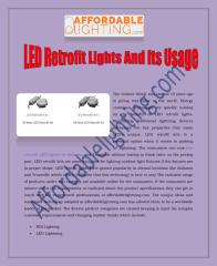 LED Retrofit Lights And Its Usage.pdf