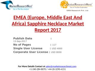 EMEA (Europe, Middle East And Africa) Sapphire Necklace Market Report 2017.pptx