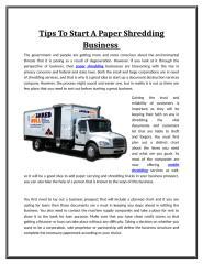 Tips To Start A Paper Shredding Business.doc