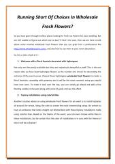 Running Short Of Choices In Wholesale Fresh Flowers.pdf