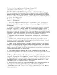 LLC Form07 Long-Form Operating Agreement for Manager-Managed.doc