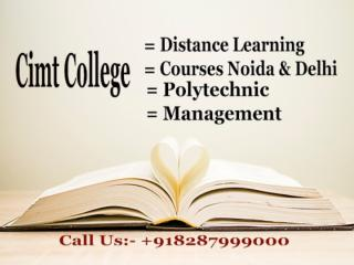 Cimt College - Distance Learning Courses Noida & Delhi..pptx