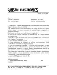 Presupuesto No. 8019. Sistema Intercomunicador.doc