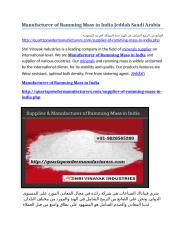 Manufacturer of Ramming Mass in India Jeddah Saudi Arabia.docx