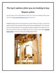 The top 5 options when you are looking to buy flowers online.pdf
